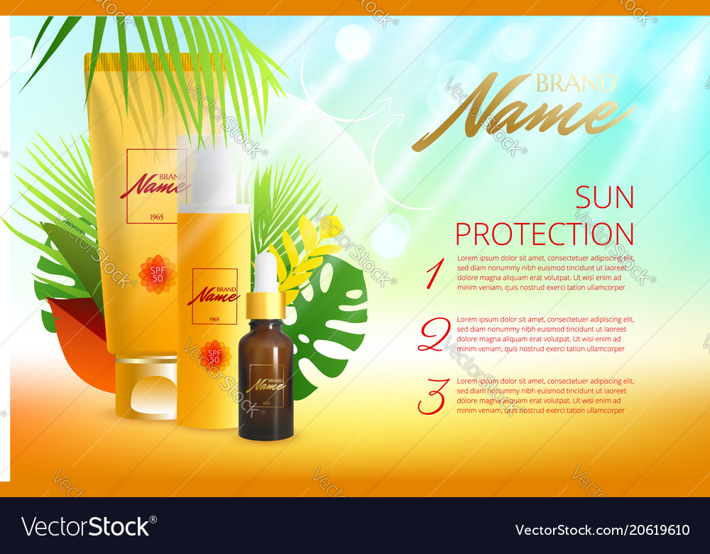 Design of advertising poster for cosmetics for Vector Image