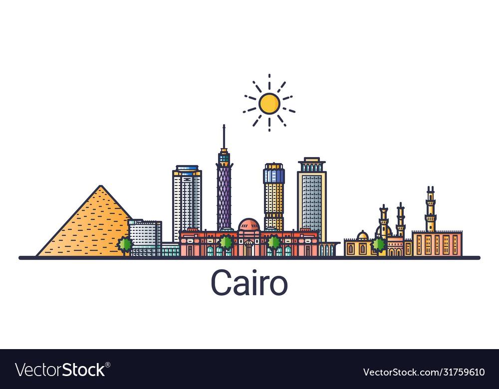 Flat line cairo banner