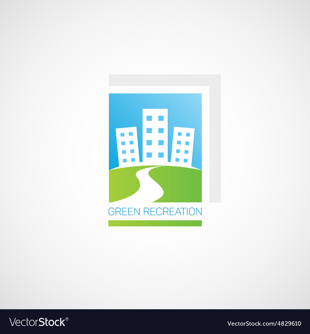 Green recreation vector image