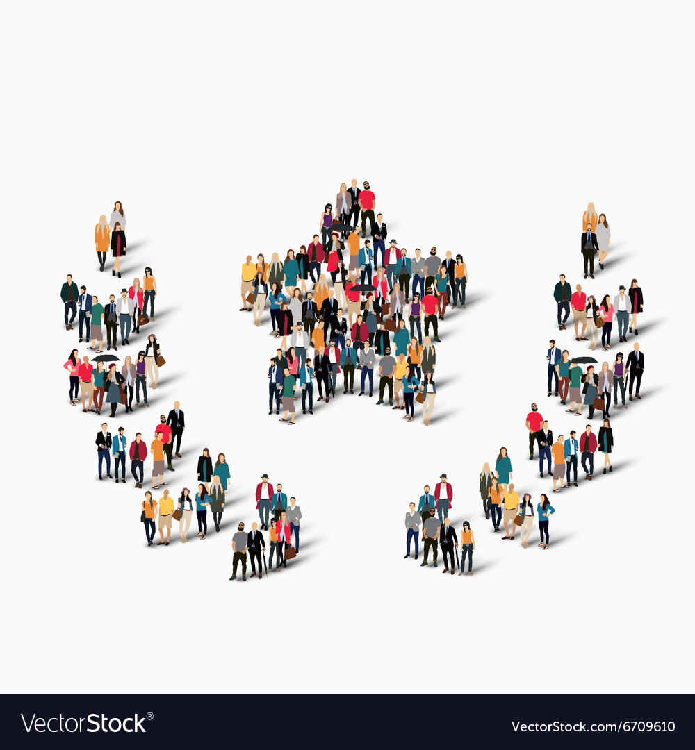 Group people shape awards vector image