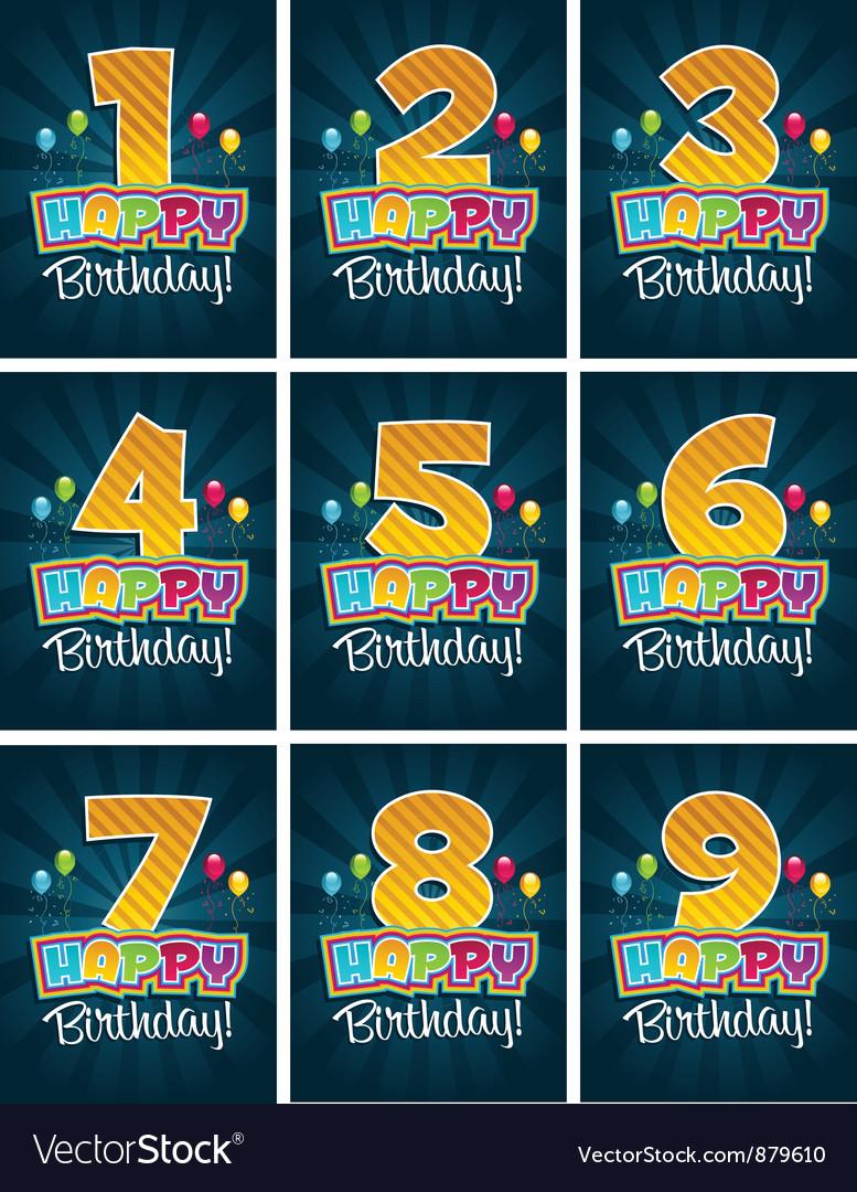 Happy Birthday Numbers