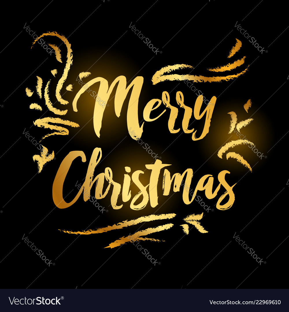 Merry christmas and happy new year 2019 gold on