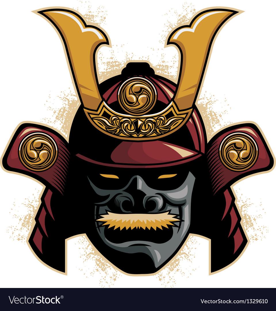 Samurai Armor Helmet Royalty Free Vector Image