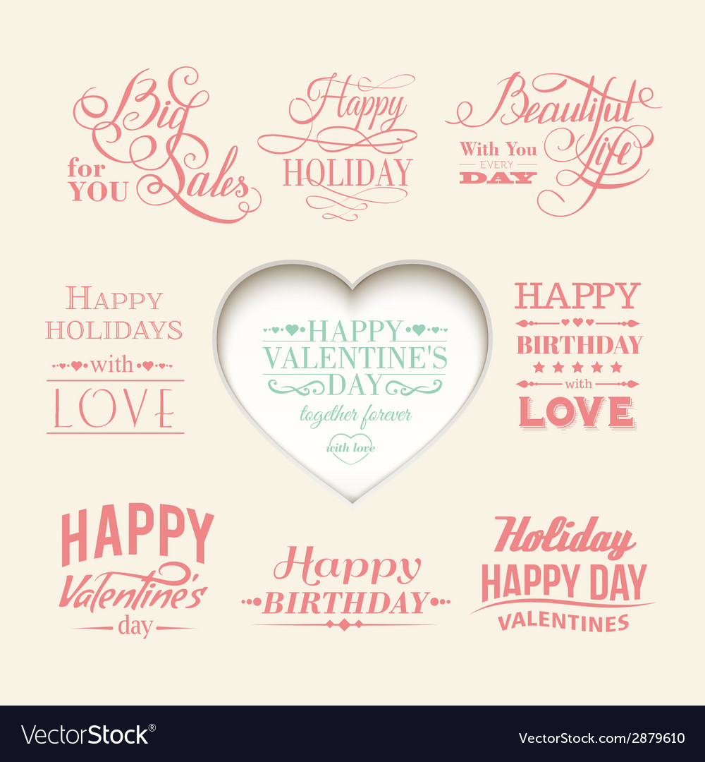 Set of Valentines Day elements
