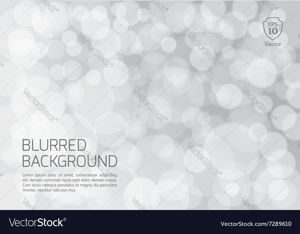 Silver blurred background with twinkly lights vector image