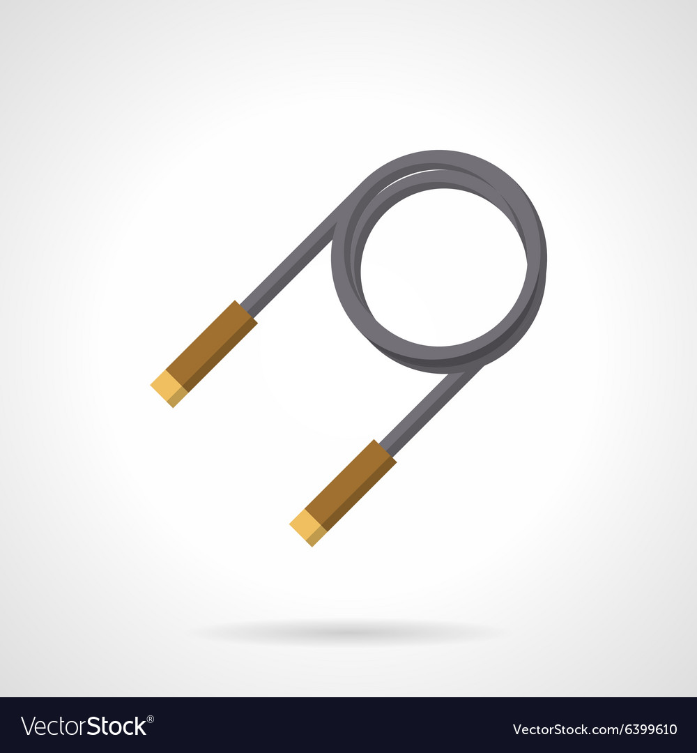 Skipping rope flat color icon vector image