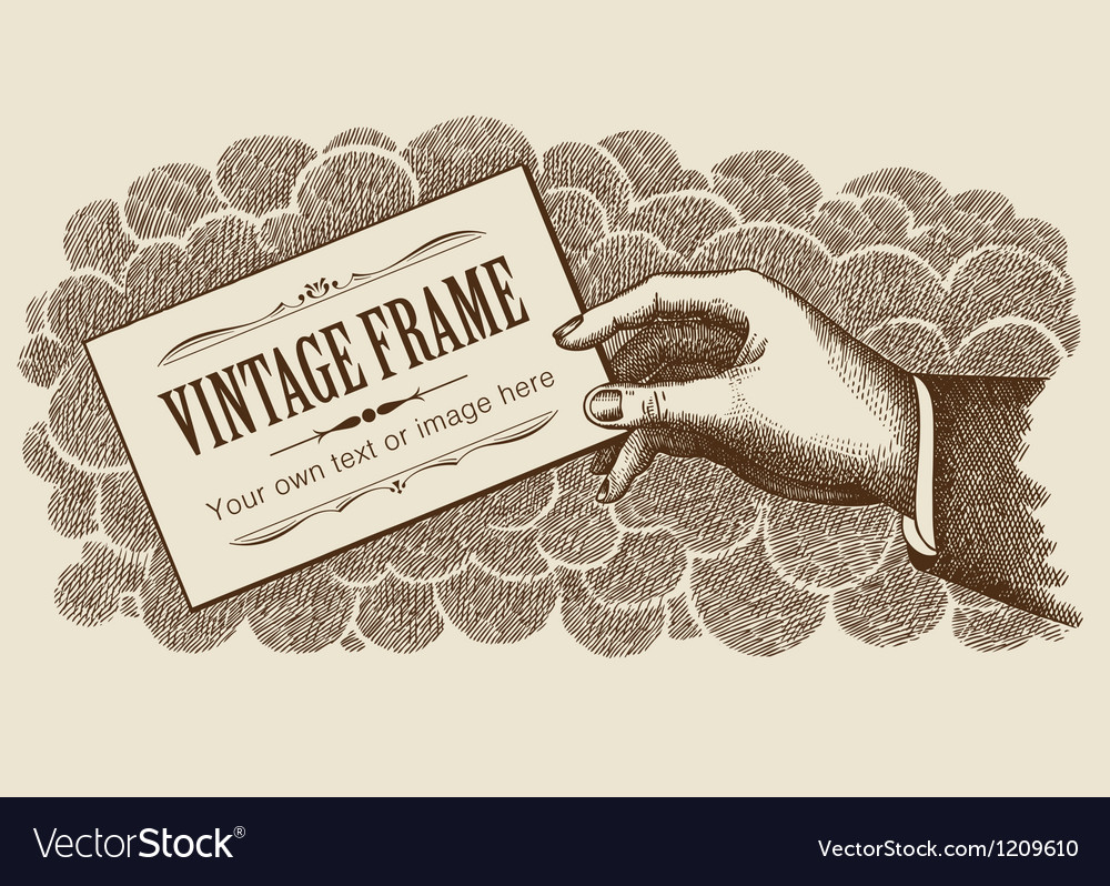 Vintage Frame Background With Hand