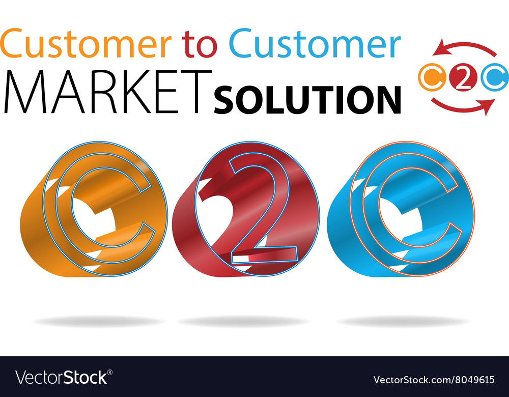 Customer to Customer vector image