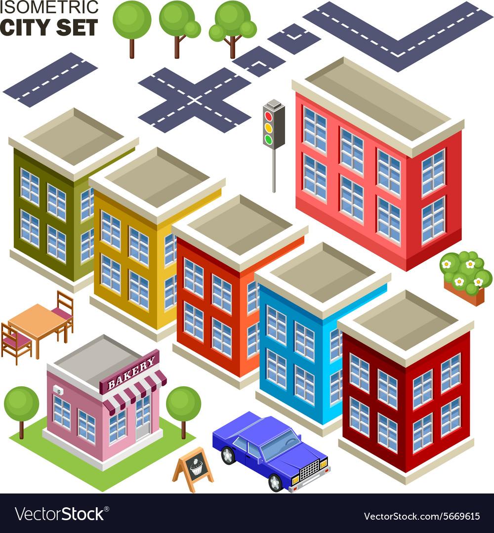 Isometric city set