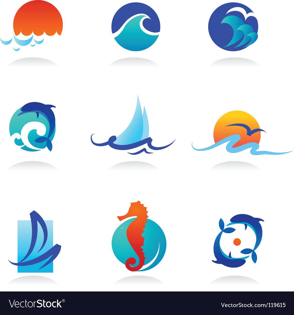 Nature logos 02 sea theme