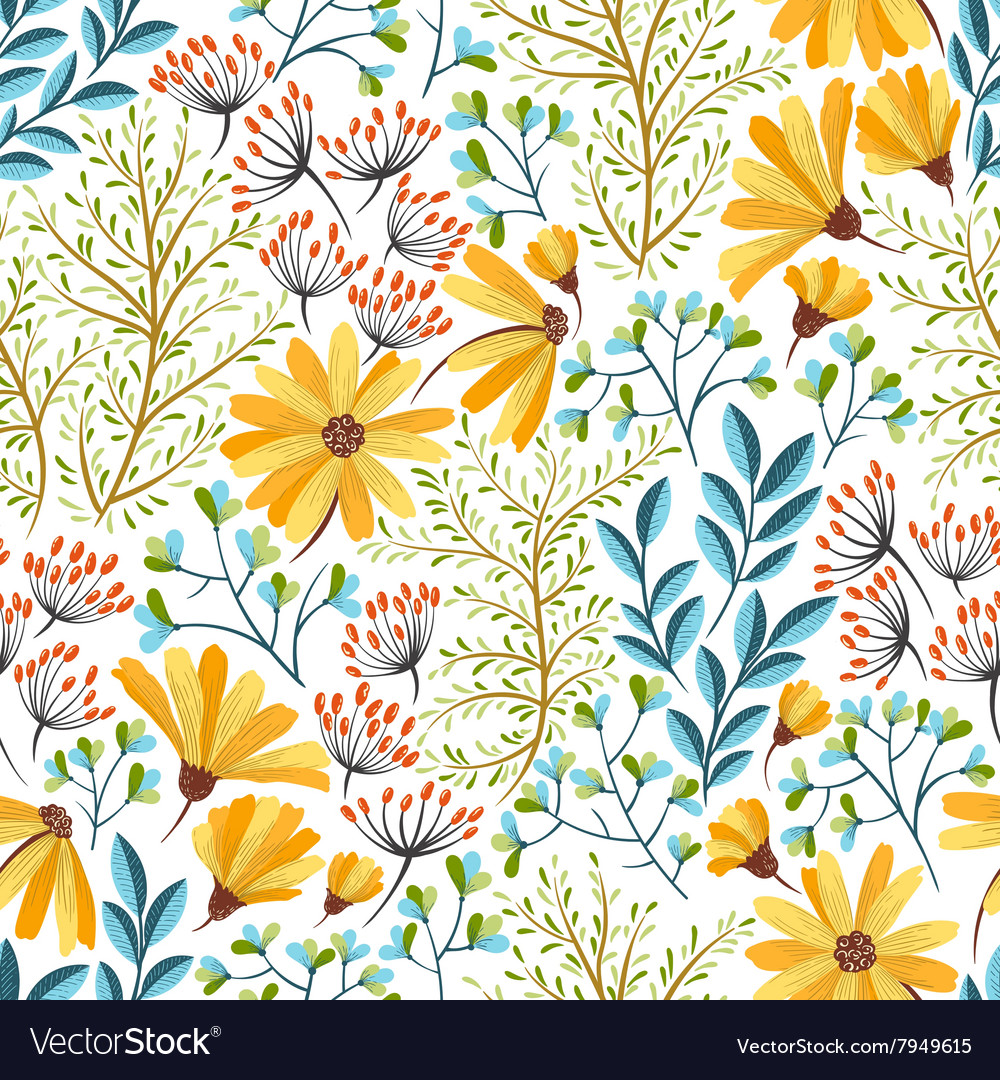 Spring Floral Pattern Royalty Free Vector Image