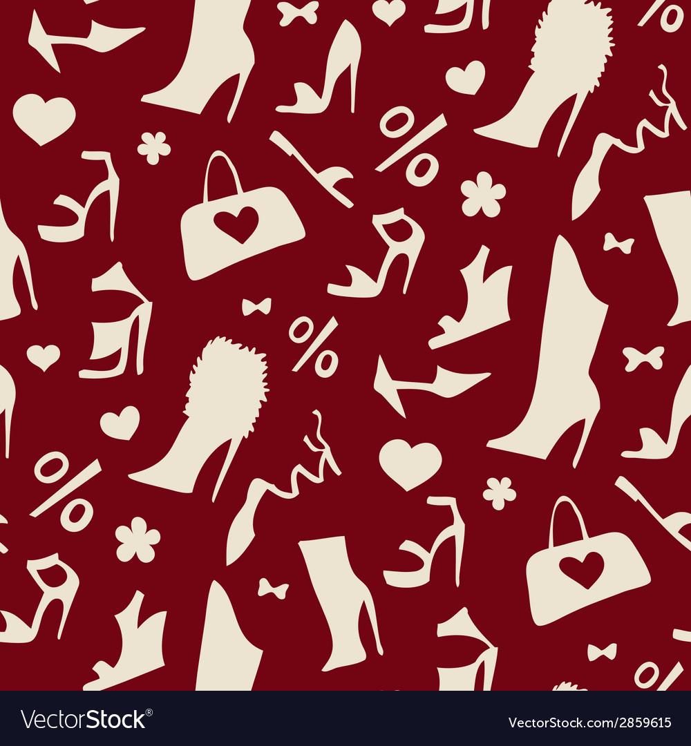 Women shoes Seamless pattern