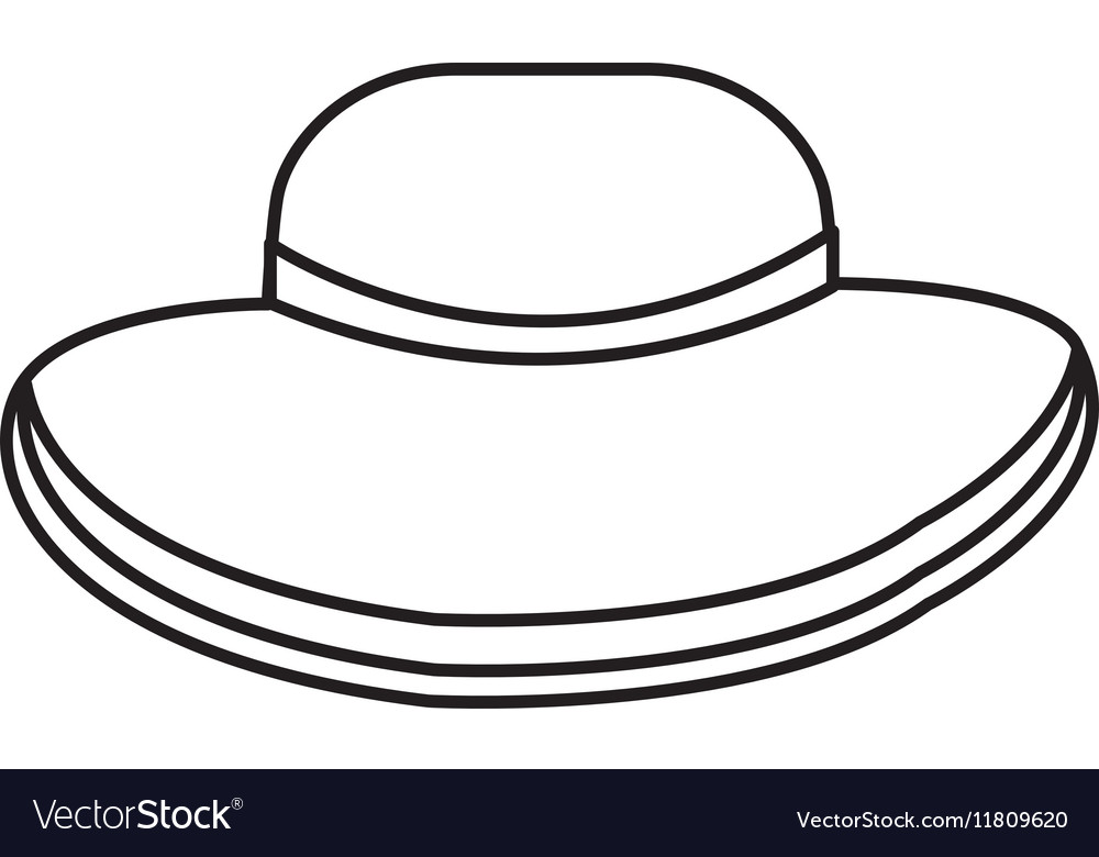 Beach hat isolated icon