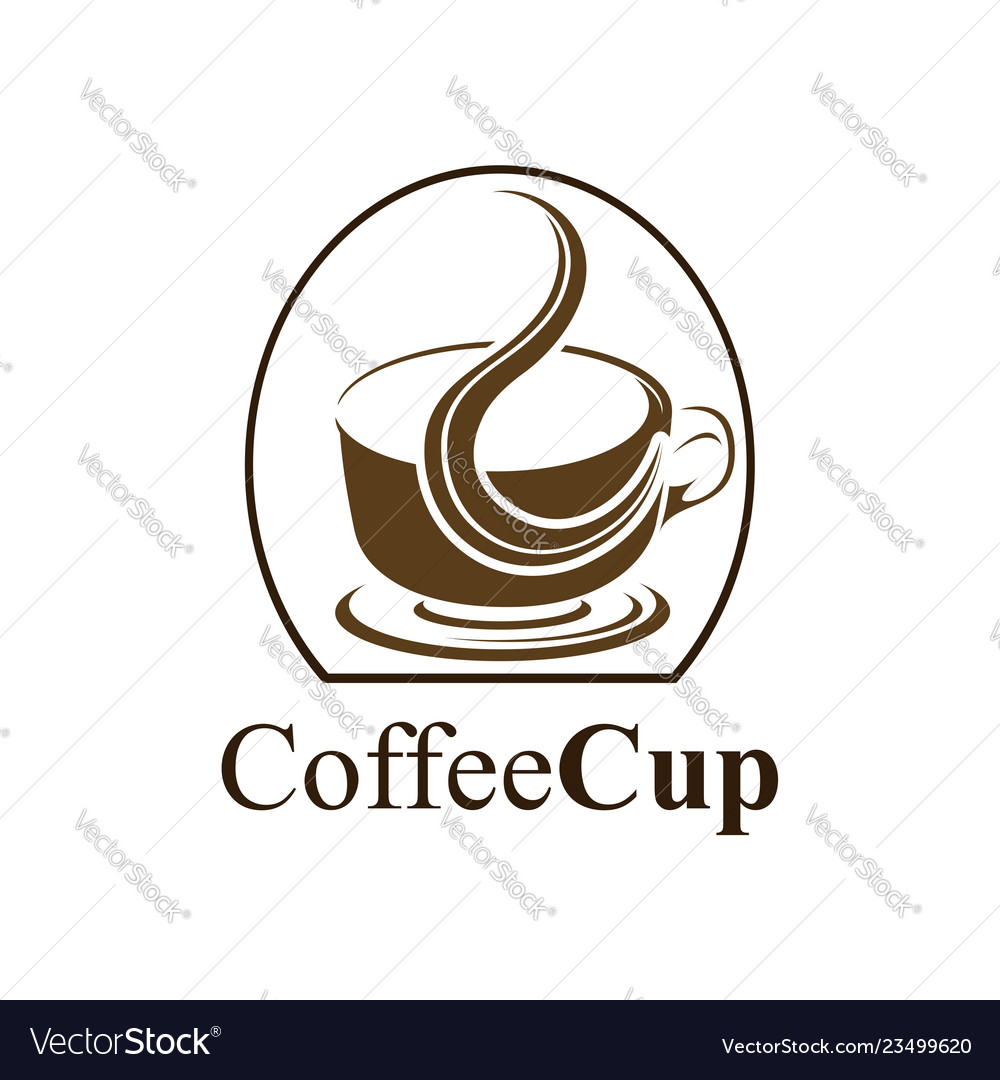 Coffee cup logo concept design symbol graphic