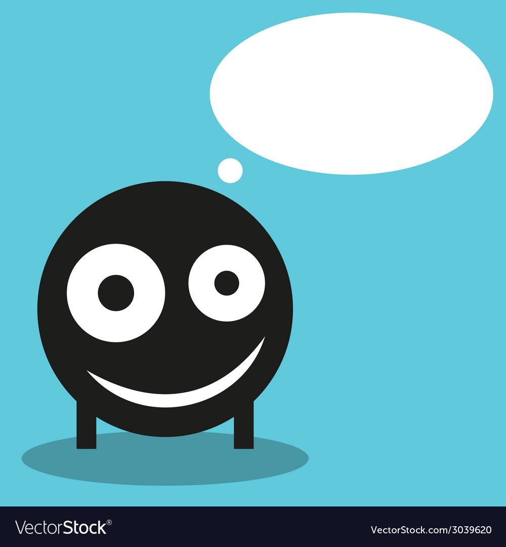 Cute monster with speech balloon