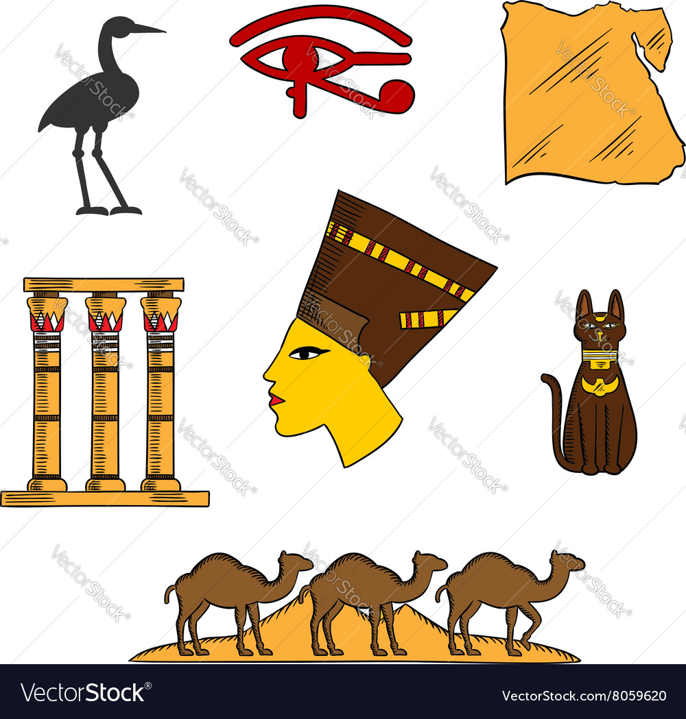 Egyptian religious and culture symbols