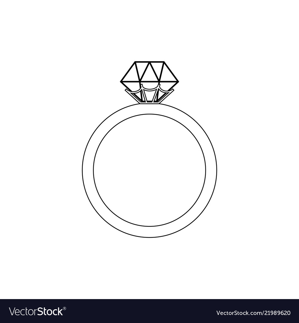 Engagement Ring Coloring Page Royalty Free Vector Image