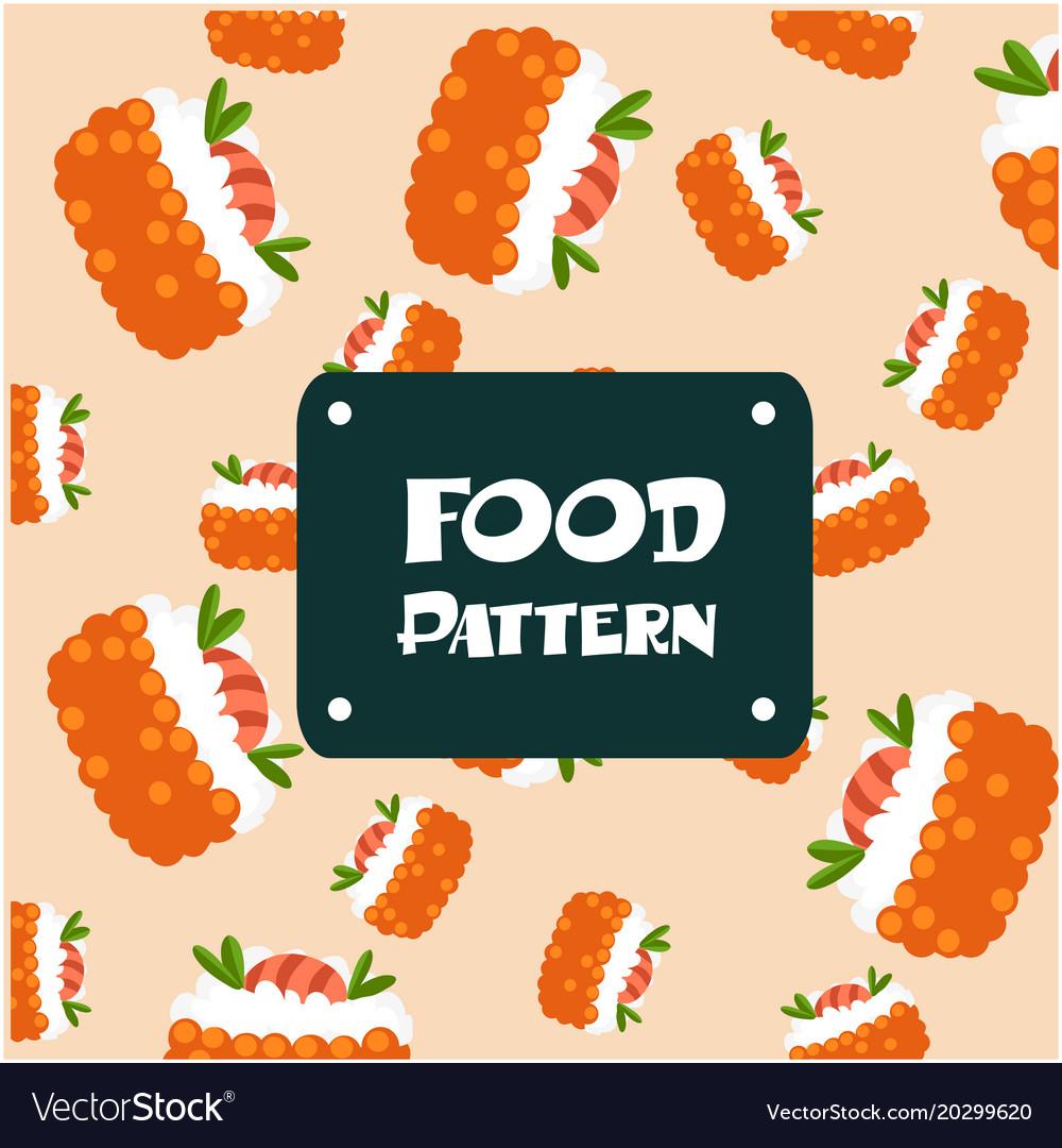 Food pattern shrimp sushi background image
