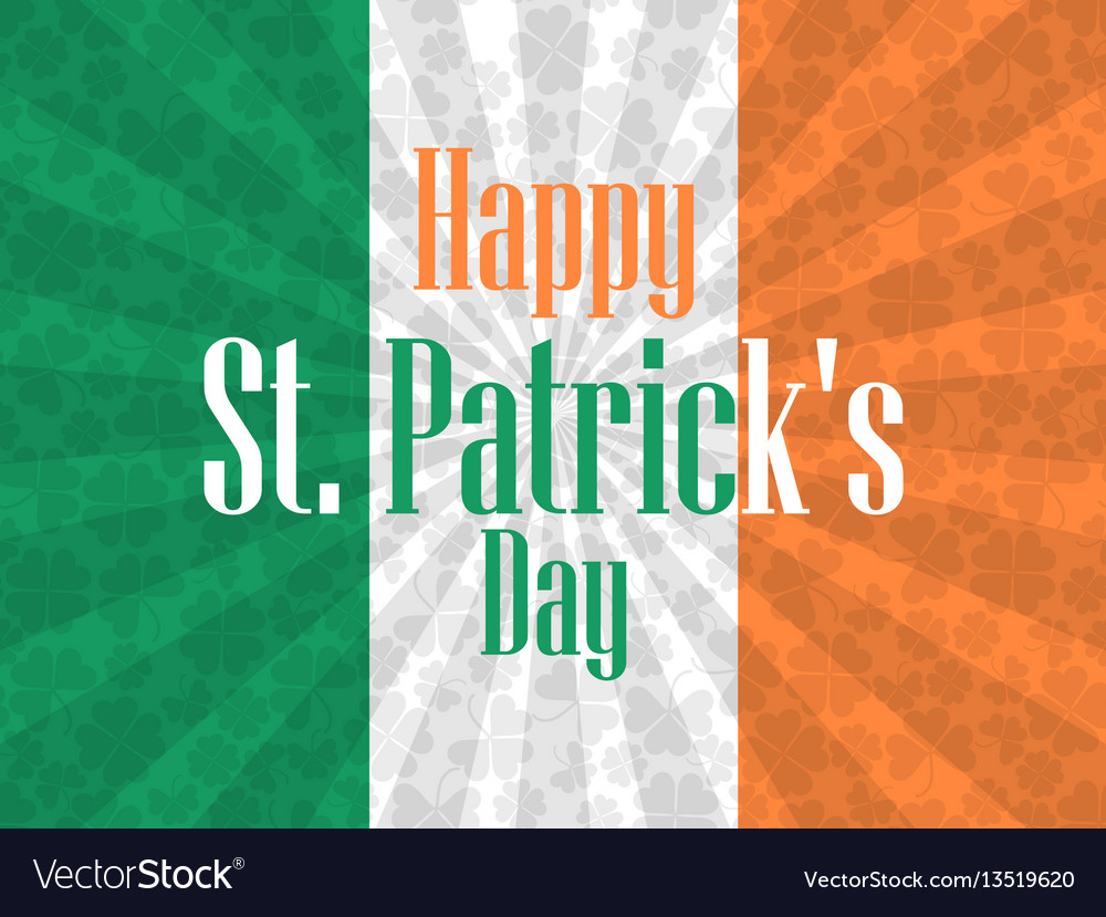 Happy st patricks day festive background with