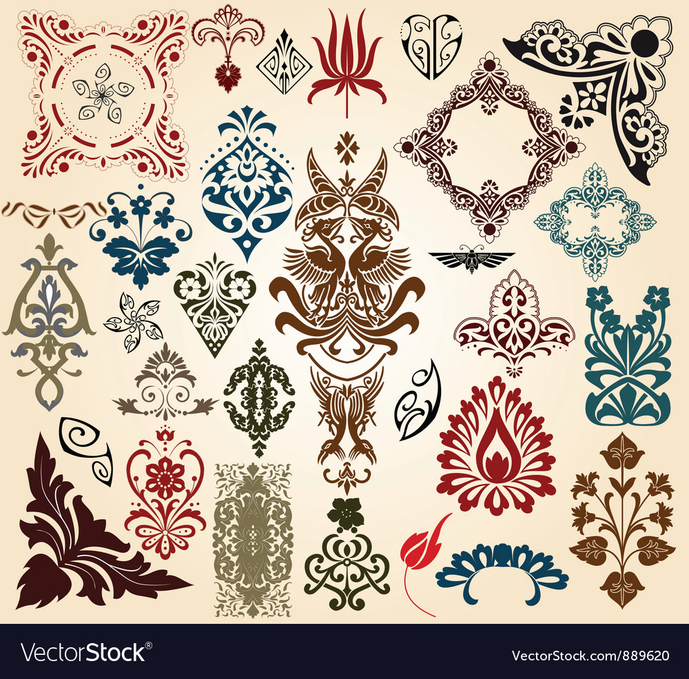 Retro collection vector image