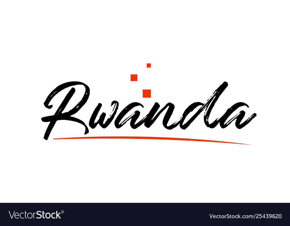 Rwanda country typography word text for logo icon