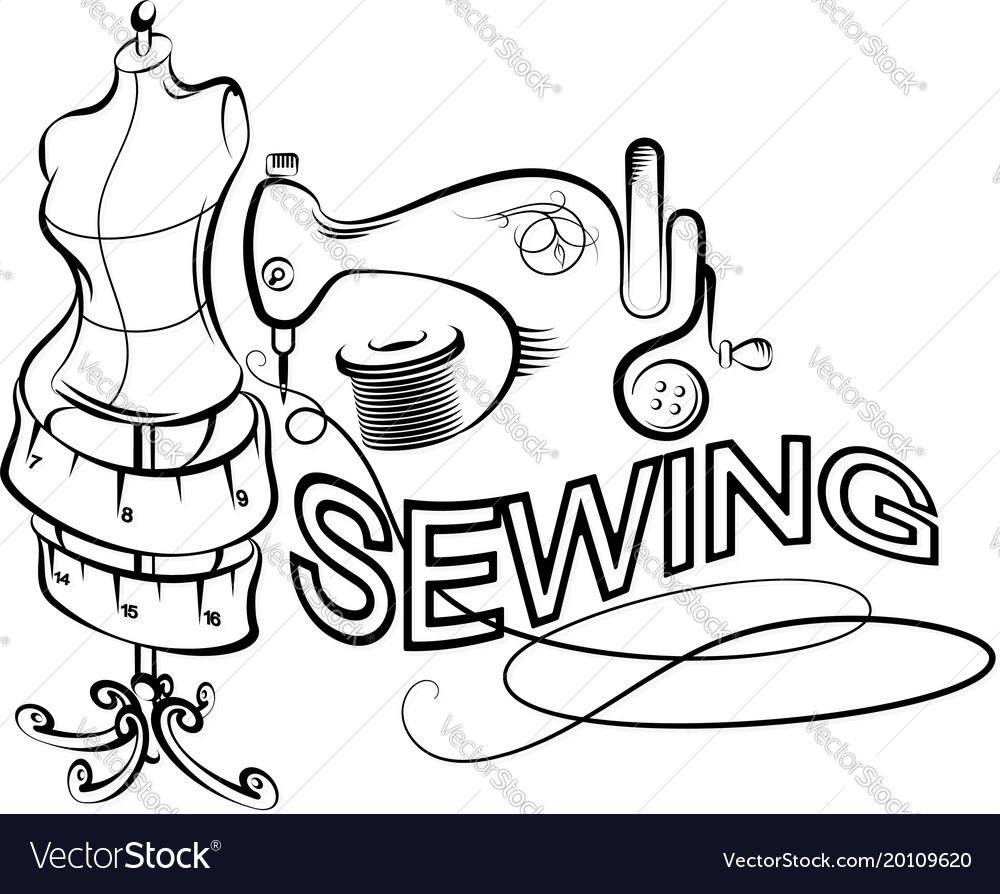 Sewing and cutting silhouette