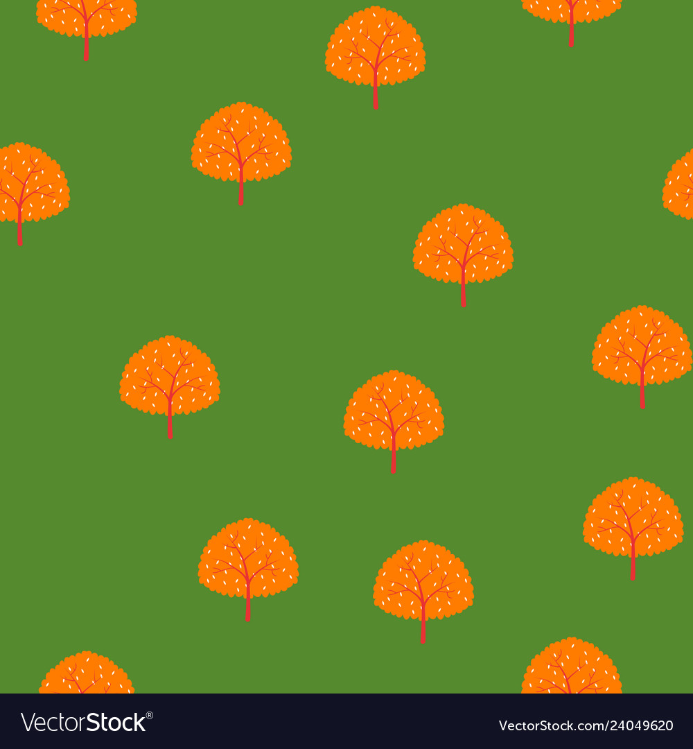Trees of summer forest pattern
