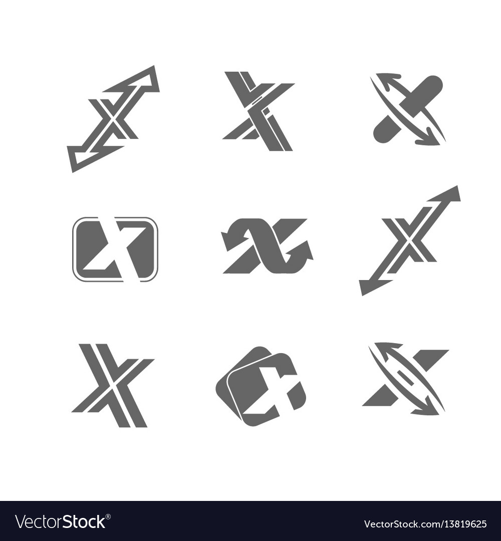 Abstract icons letter x