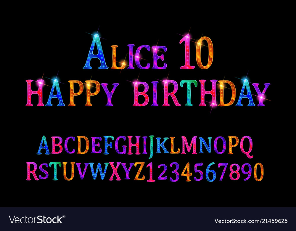 Alice 10 font childrens