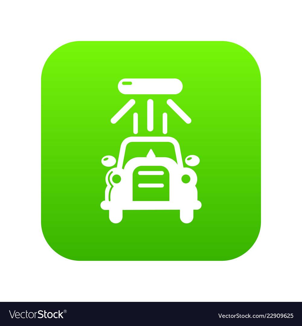 Car Wash Icon Green Royalty Free Vector Image Vectorstock