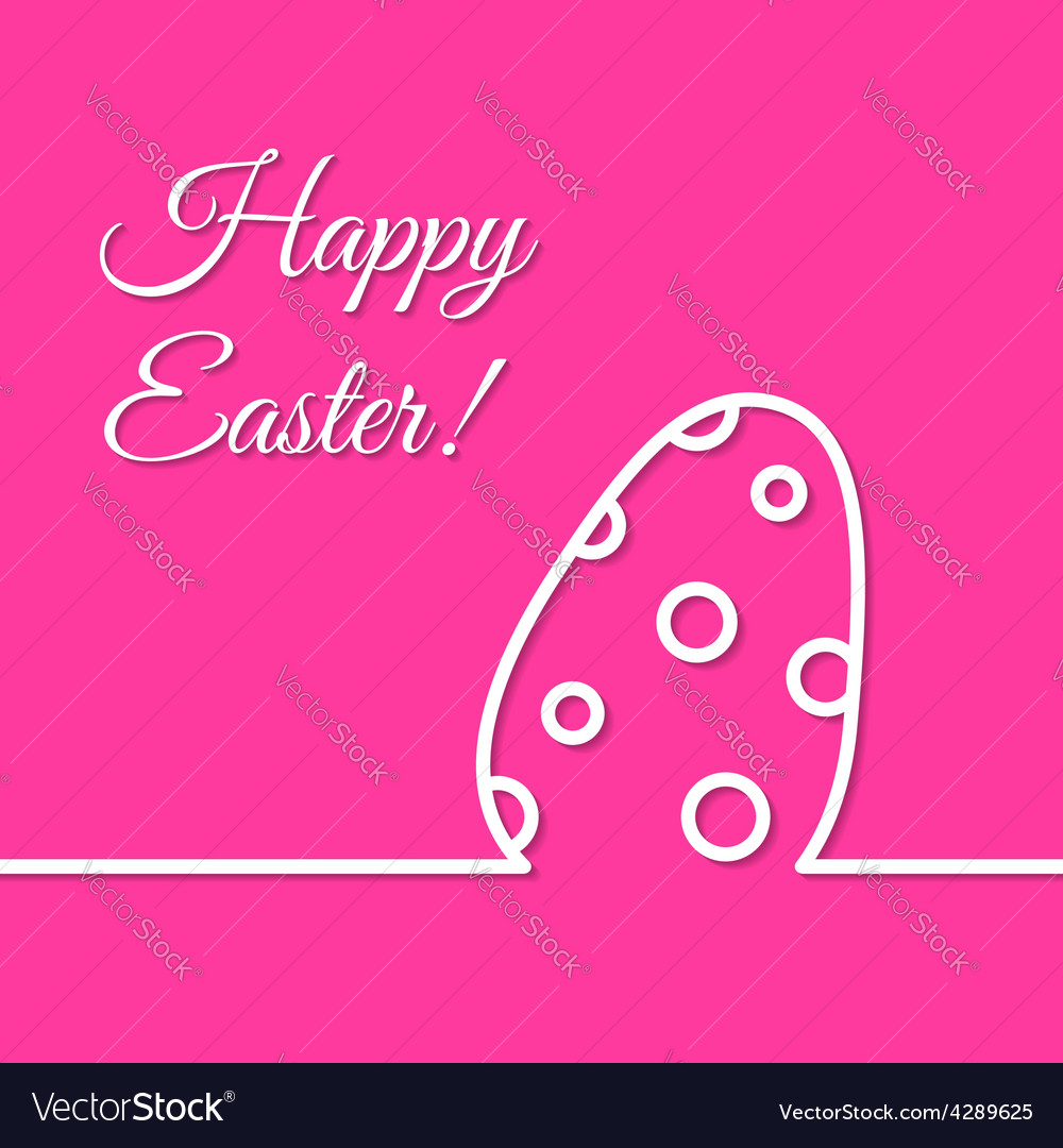 Dotted Easter egg simple line holiday poster