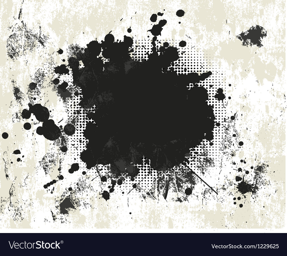 Grunge background with halftone vector image