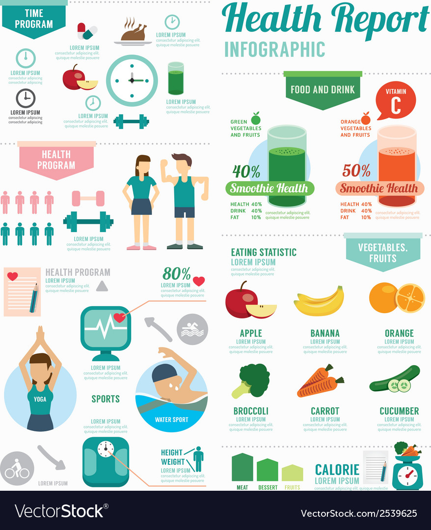 Infographic health sport and Wellness template