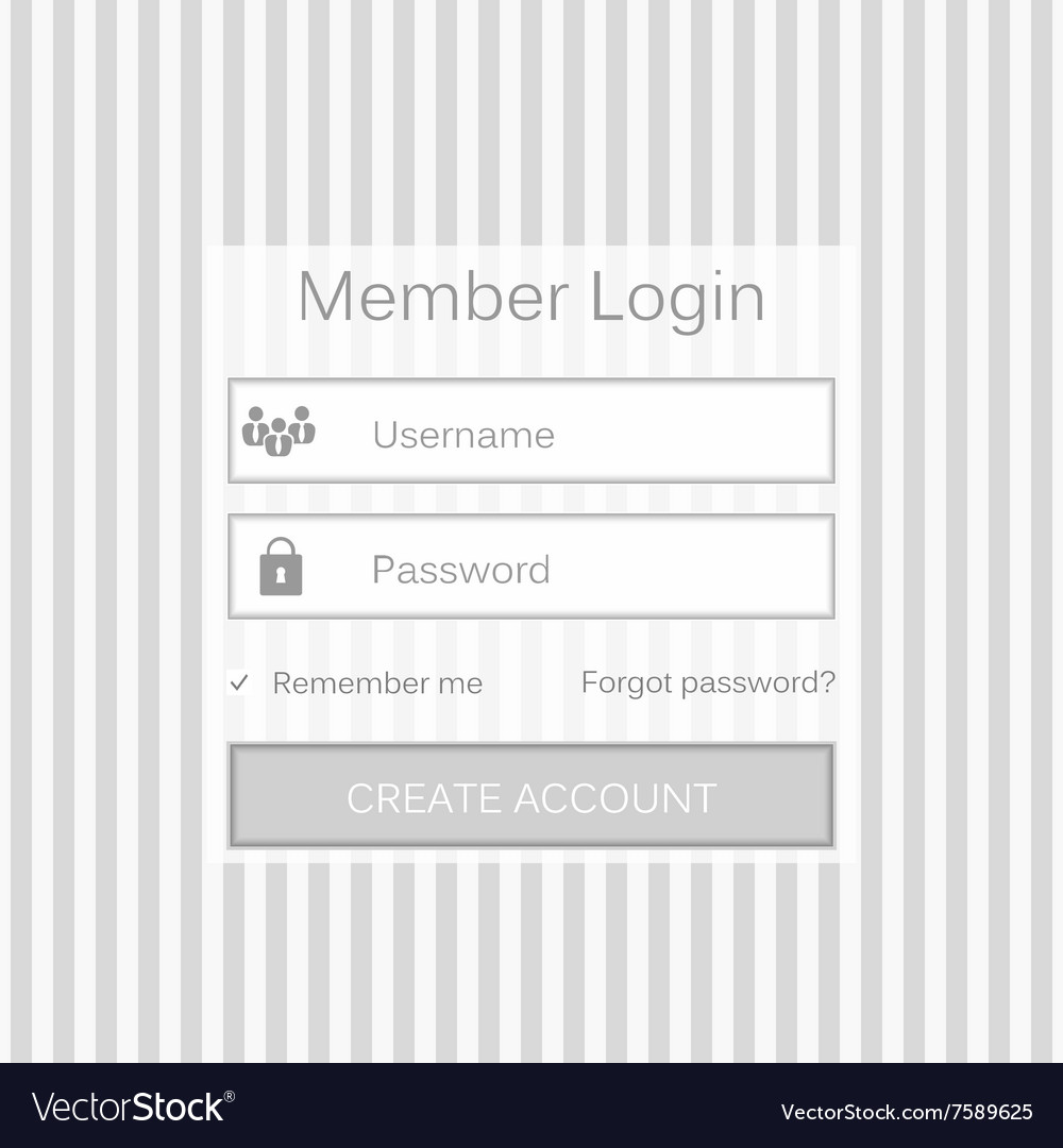 Mobile user ui kit form interface For web vector image on VectorStock
