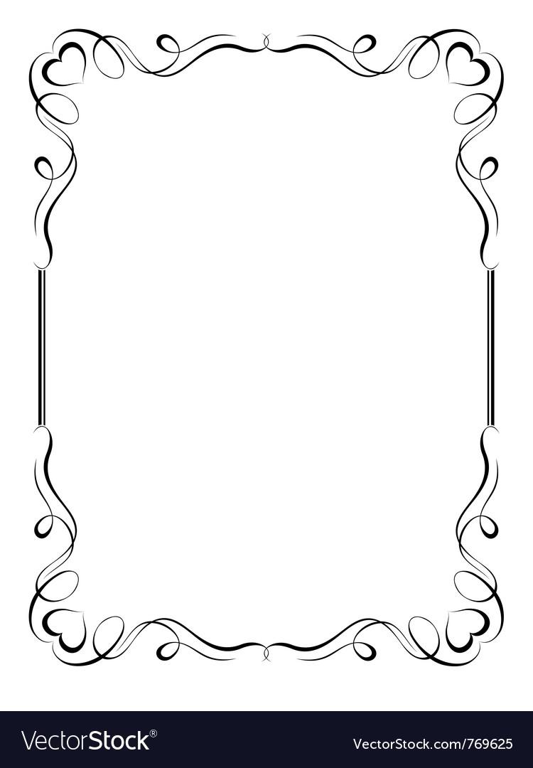 Ornamental frame Royalty Free Vector Image - VectorStock
