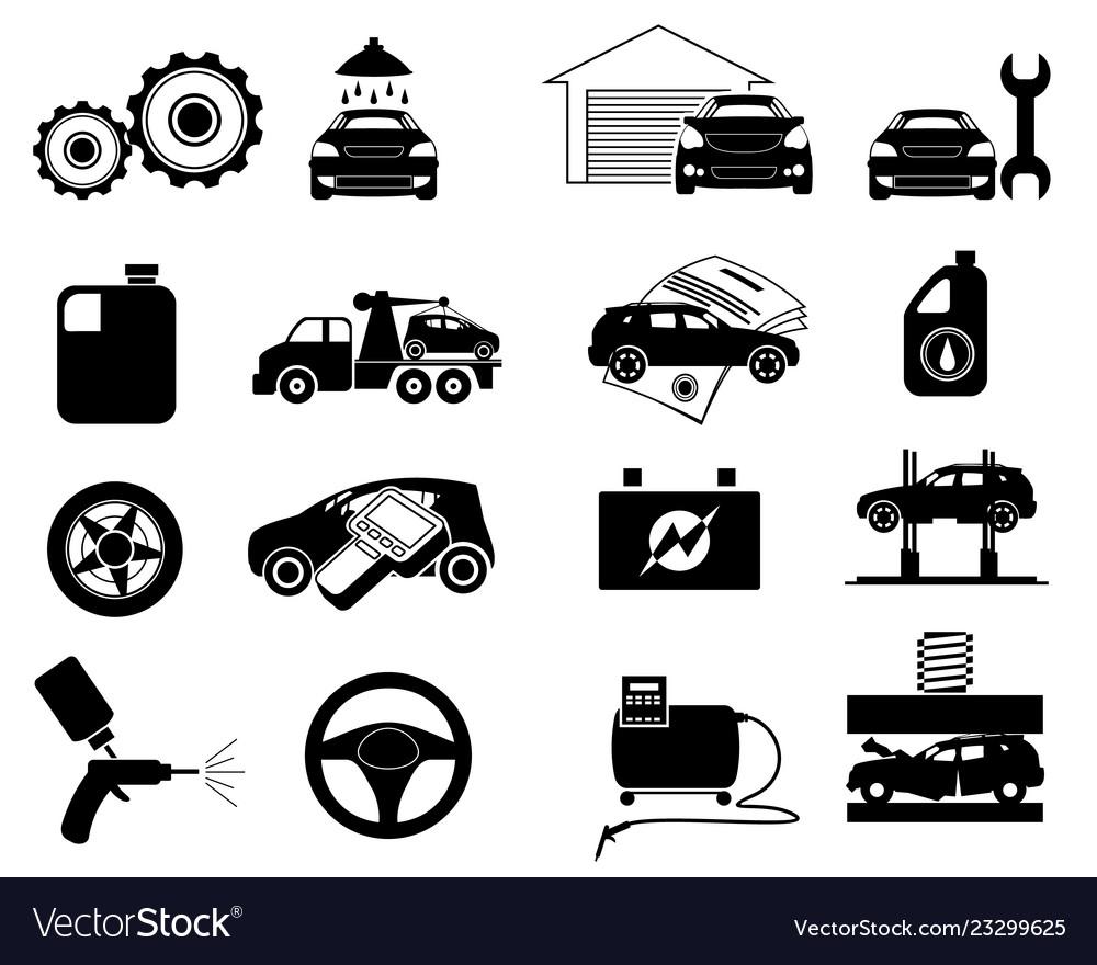 Repair service icon set