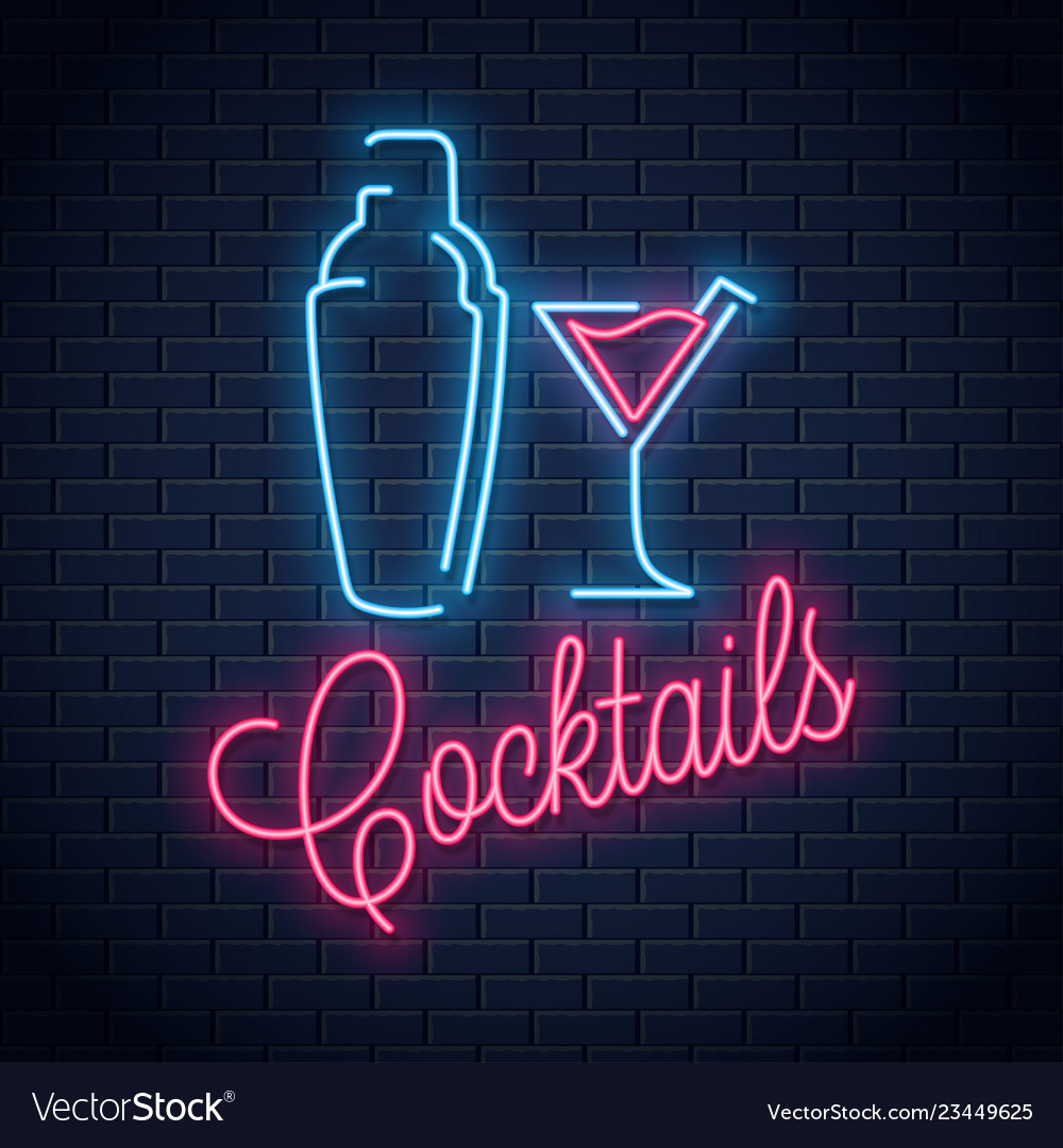 Shaker neon logo cocktail party neon sign