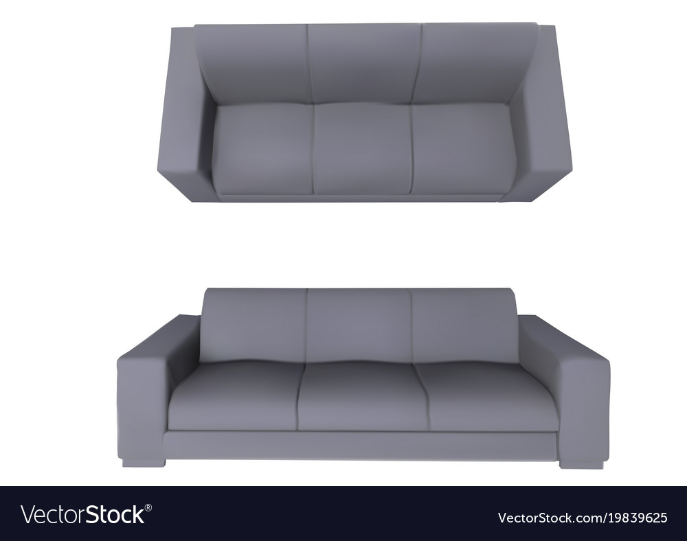 Sofa Front And Top View Royalty Free Vector Image