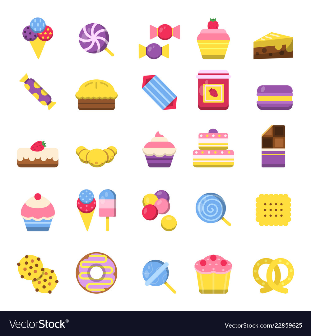 Sweets icon chocolate candy biscuits ice cream