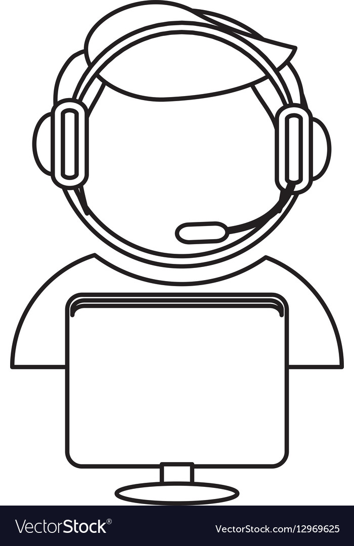 Technical support assistant icon