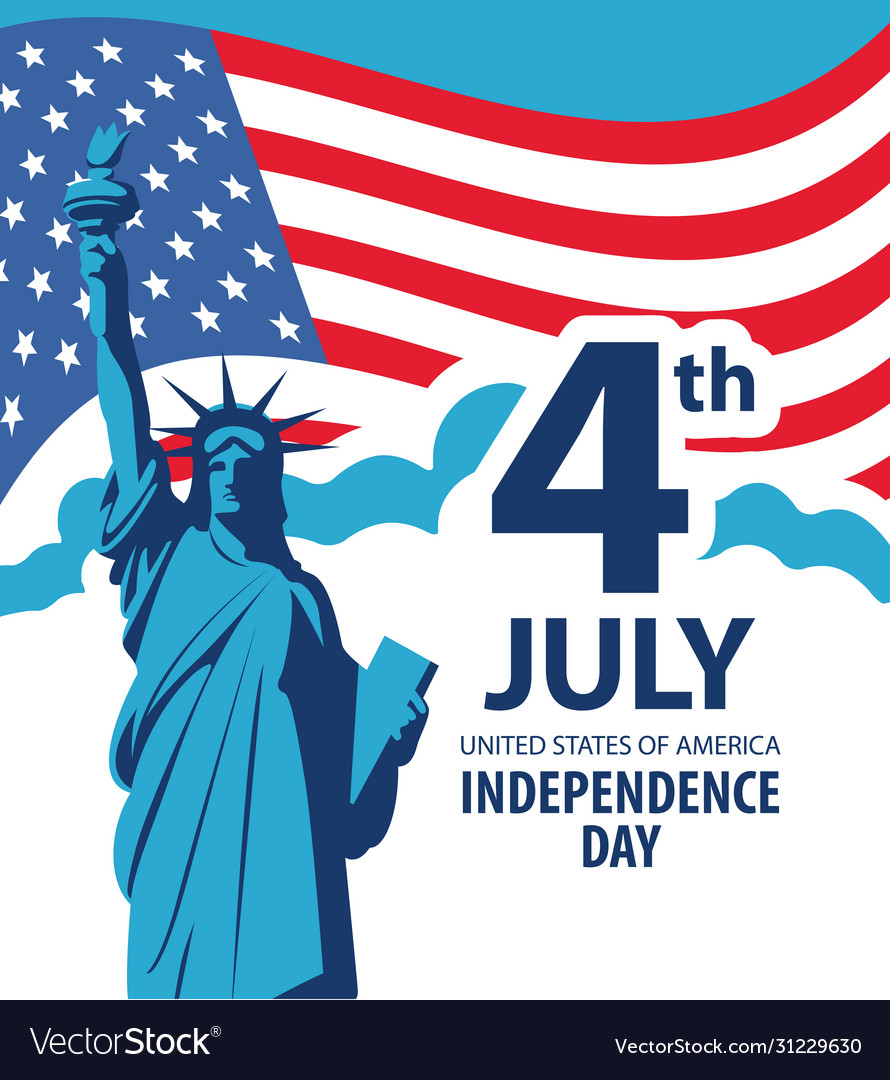 Banner on theme us independence day