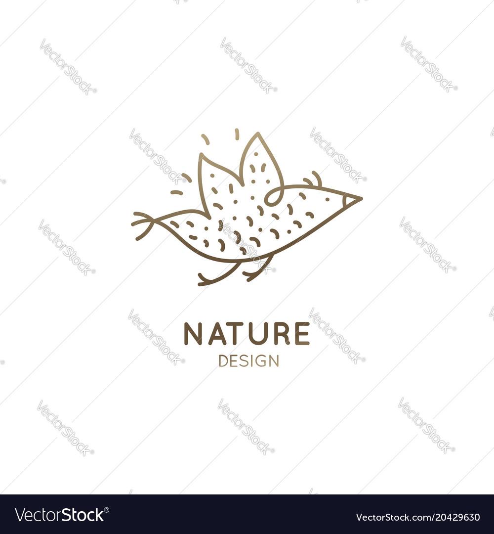 Bird icon vector image