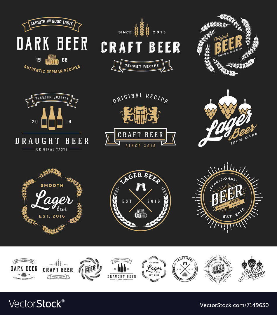 Collection of 9 Beer Logos