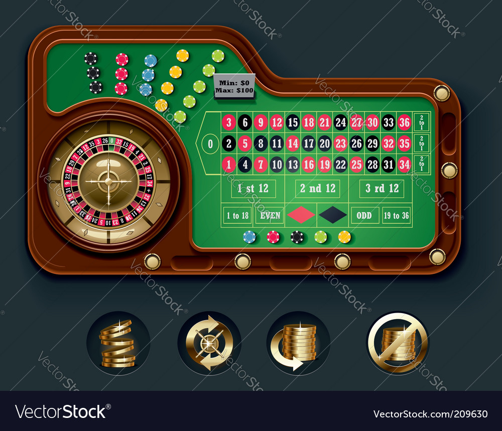 European roulette table layout