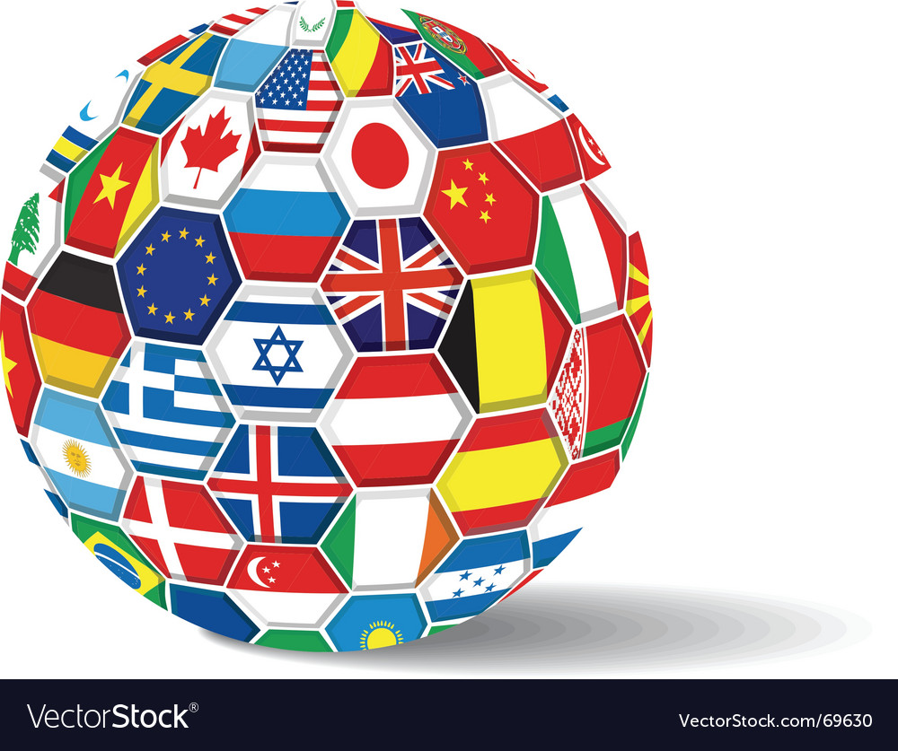 World flags ball