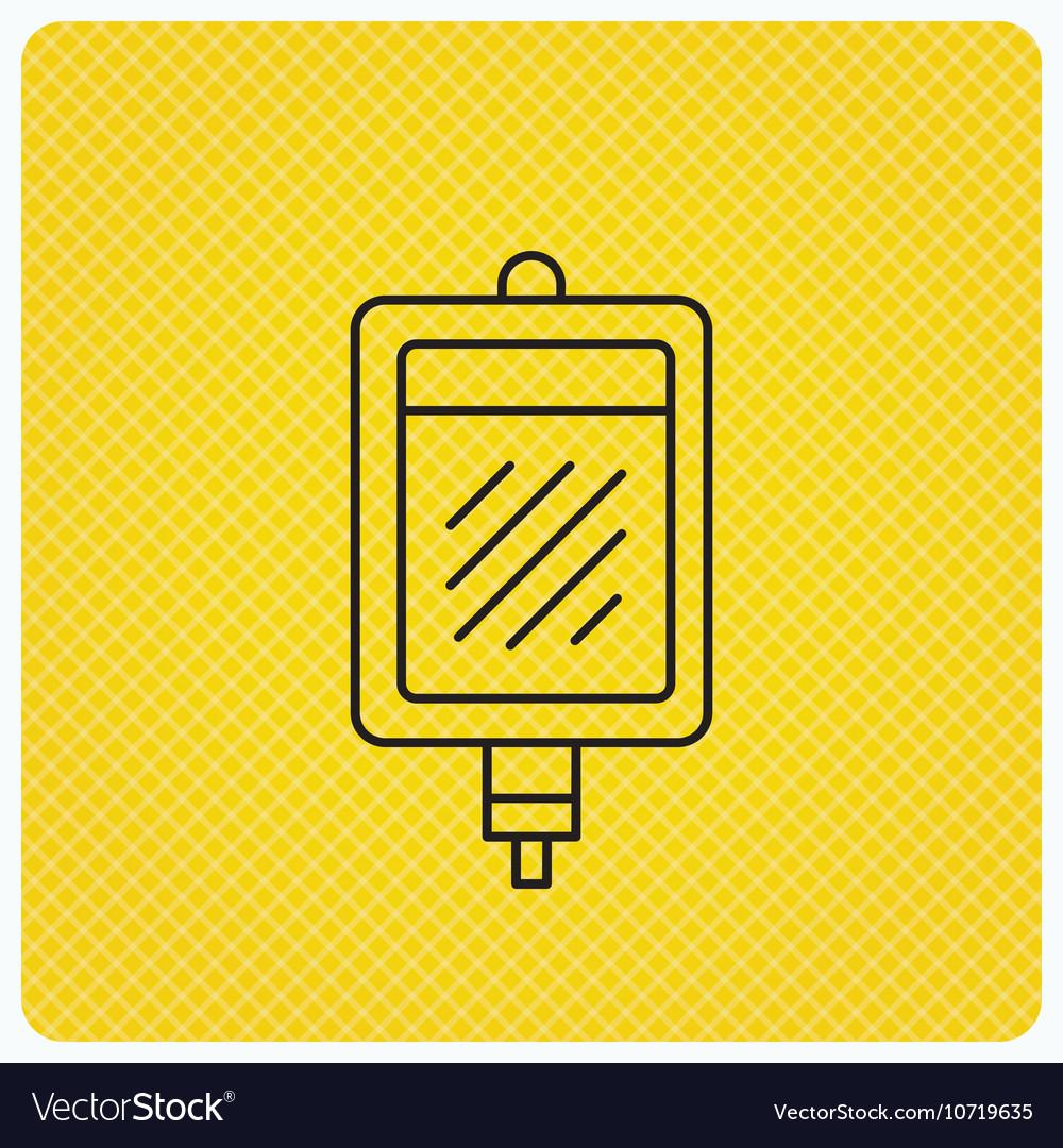 blood donation icon medicine drop counter sign vector image
