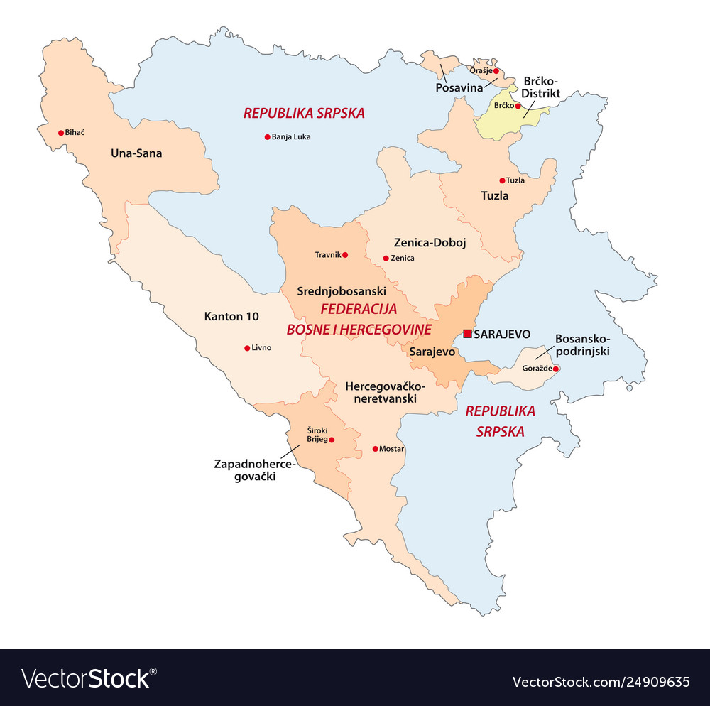 Bosnia and herzegovina administrative and