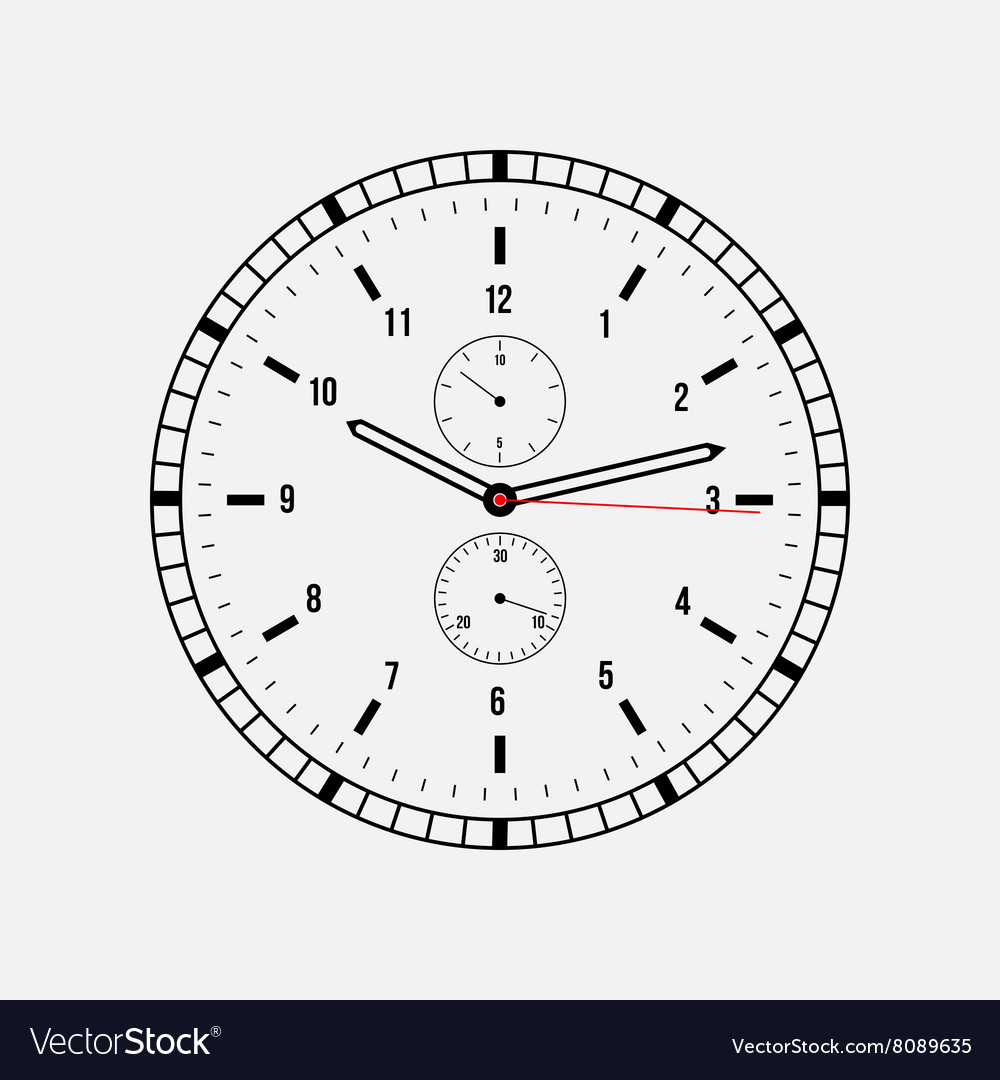 Clock on a white background vector image