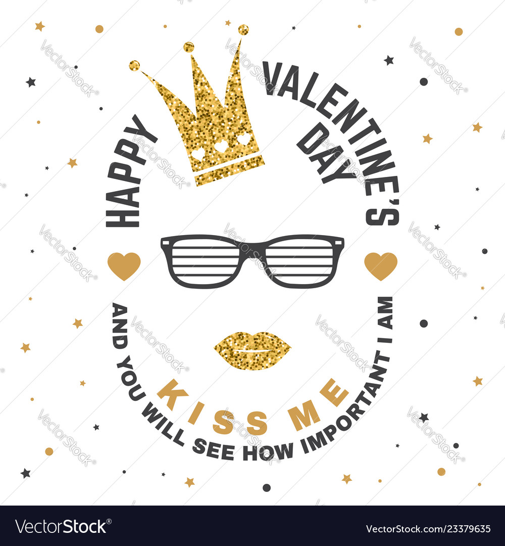 Happy valentines day stamp overlay badge card