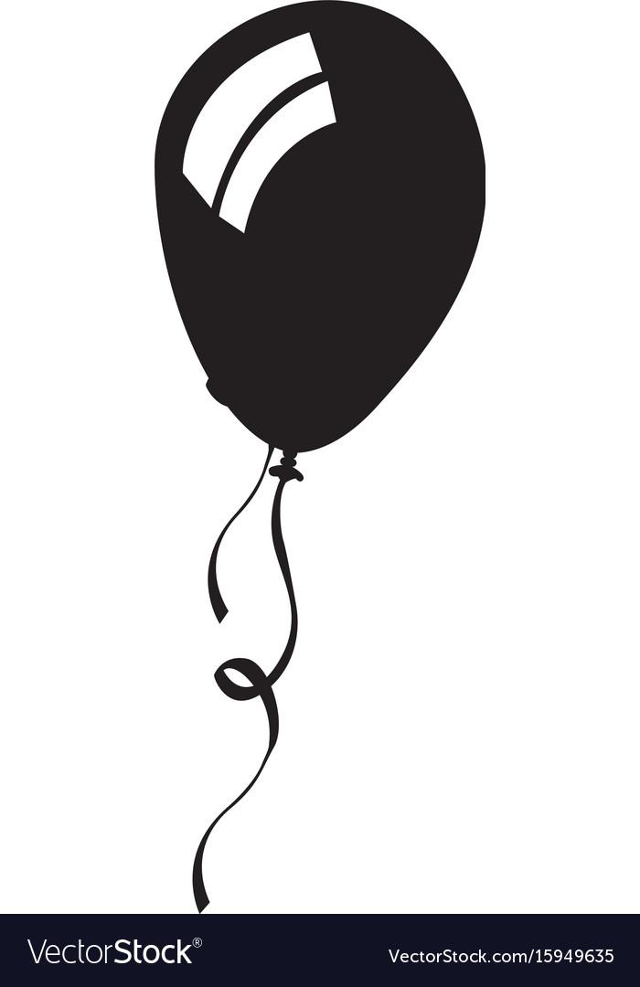 Isolated balloon silhouette